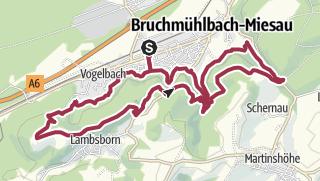 Map / Bruchmühlbach-Miesau - Sagenhafter Waldpfad