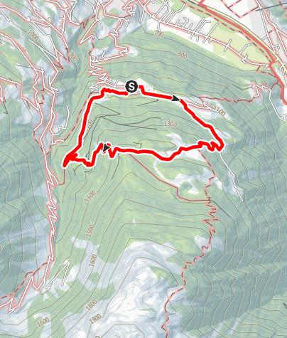 Karte / Von Bitschweil auf den Horamaisäß und zurück nach Bitschweil