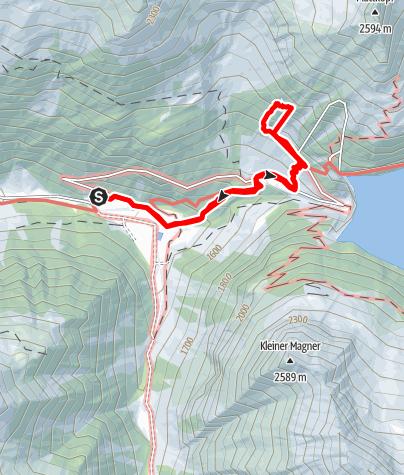 Karte / Alpiner Spätaufsteher - Plaisirklettertour im Zillergründl (Zillertal)