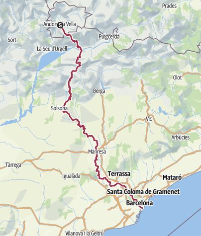 Map / Andorra to Barcelona 2015