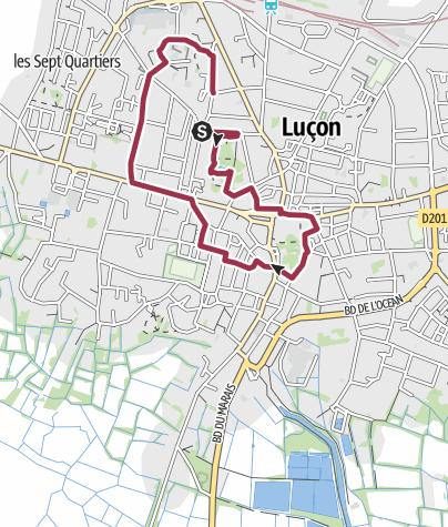Map / Luçon, Ville, Jardin Dumaine et parc