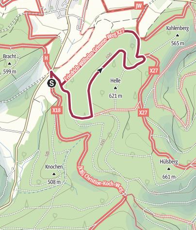Karte / Rundweg vom Wanderparkplatz Wehrscheid, Bracht (A1)