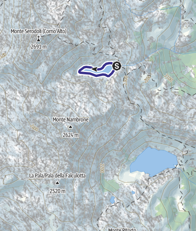 Karte / lago Lambin Q