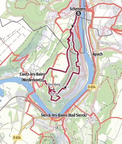 Karte / Traumschleife Schengen grenzenlos – Schengen sans frontières
