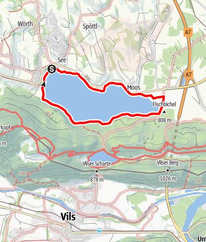 "Karte / Terrainkurweg ""Weißensee-Rundweg"""