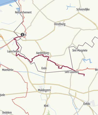 Map / FrJ-26,2-LAW11 Sluis - St Laureins