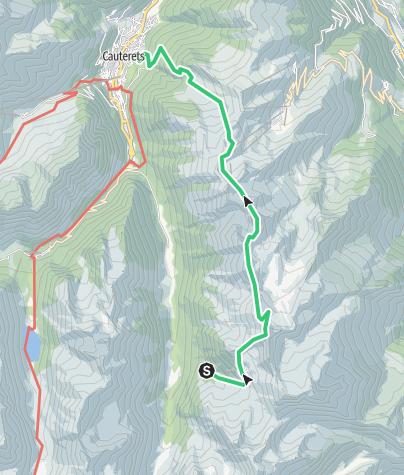 Map / Refuge Russel  à Cauterets par Ardiden