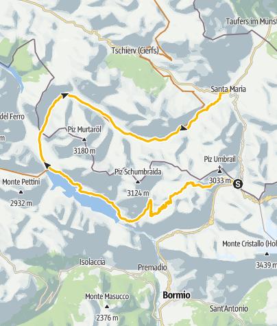 Map / Bocchetta di Forcula – Bocchetta di Pedenolo - Val Mora: Singletrailgarantie und Spuren des 1. Weltkrieges