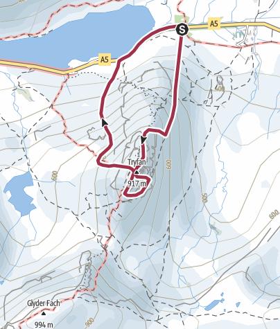 Map / Tryfan East face Scramble