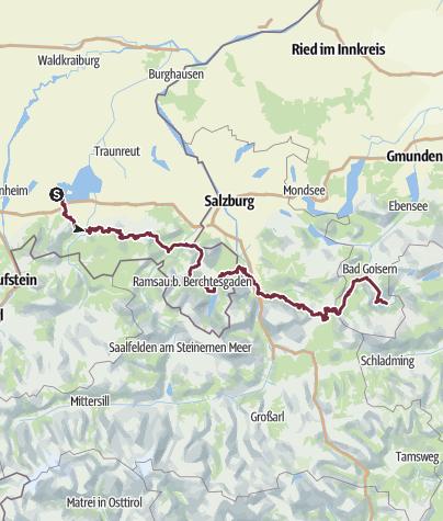 Chiemsee Karte Region.Salzalpensteig I Auf Alten Salzwegen Vom Chiemsee Nach
