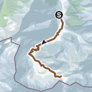 Karte / Mountainbiketour von der Hubertuskapelle zum Wolayersee