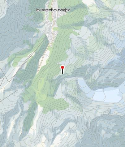 Map / refuge Tré la Tête