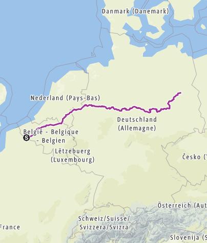 Carte / Biketrip Lille ->Riga Part1