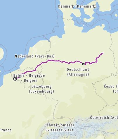 Carte / Biketrip Lille ->Riga Part 1
