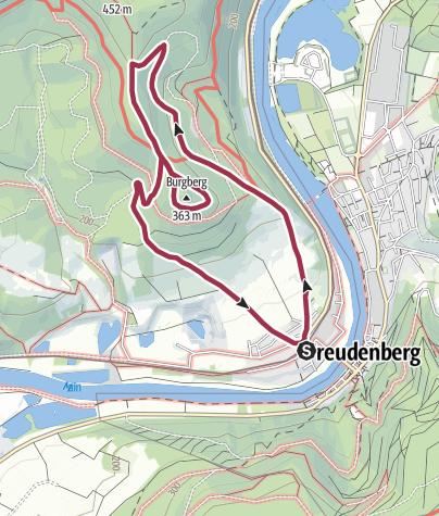 """Karte / """"Burgbergrunde"""" in Collenberg - CK1"""