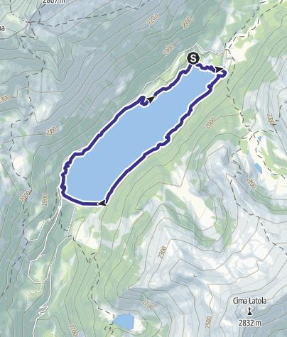 Cartina / Lago di Malga Bissina 3
