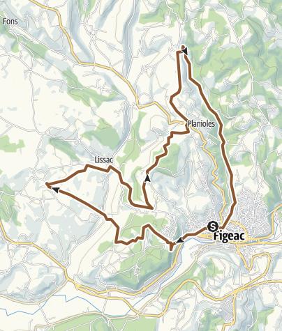 Map / Crêtes et descente sur figeac par GR65
