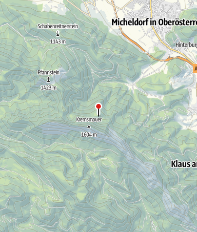 Karte / Parnstaller Alm 1165m