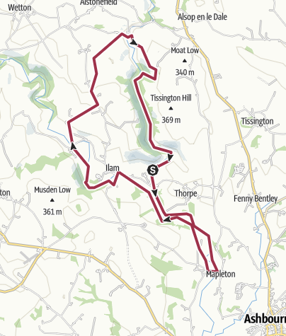 Map / Dove dale route 13miles
