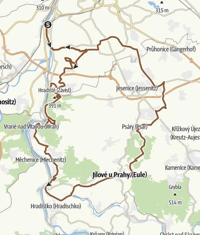 Map / Okolí prahy