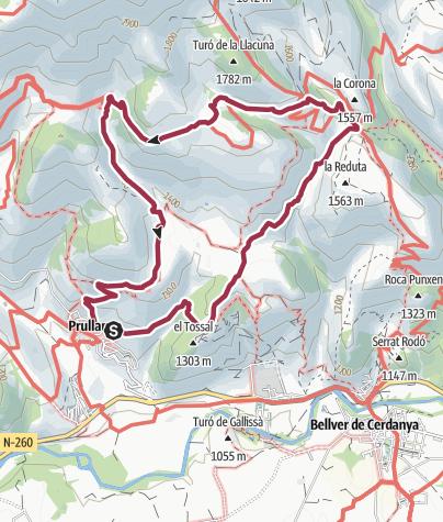 מפה / Prullans-Orden-Talltendre-Prullans