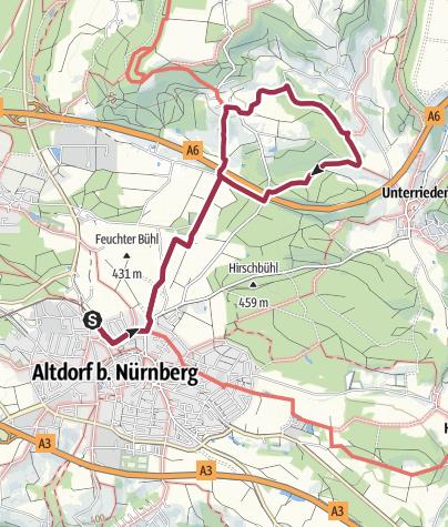 Karte / Altdorf bei Nürnberg, Rundwanderweg 8