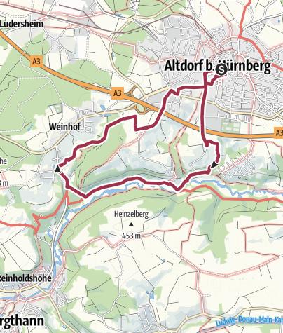 Karte / Altdorf bei Nürnberg, Wallensteinweg