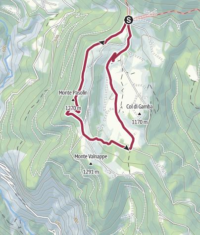 Cartina / Passeggiata Percorso di Celado