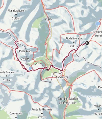 Map / 3 cab de la Hosse /Ref d'Arlet 24kms