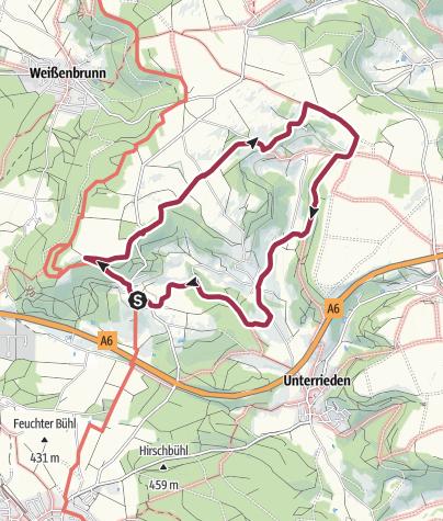 Karte / Altdorf bei Nürnberg, Rundwanderweg 8a