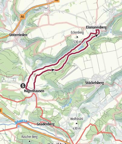 Karte / Altdorf bei Nürnberg, Rundwanderweg 6a