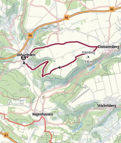 Karte / Altdorf bei Nürnberg, Rundwanderweg 7b