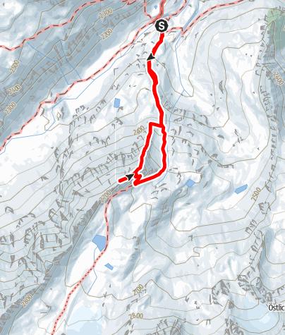 """Karte / Vordere Sommerwand - """"Hüttengrat"""""""