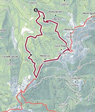 Map / Van, Cor, troi dei Cavai