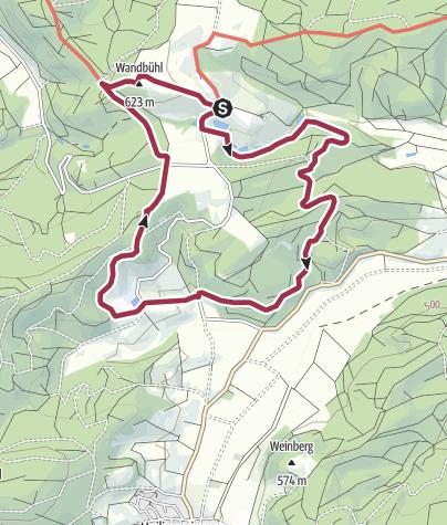 Karte / Paradiestour Kloster Kirchberg