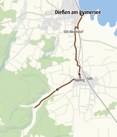 Karte / Von Dießen zum Biergarten Stillern (flach)