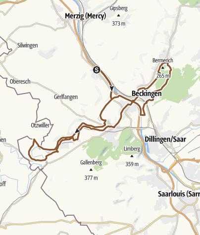 Karte / Vallée de la Nied 22 juil. 2018