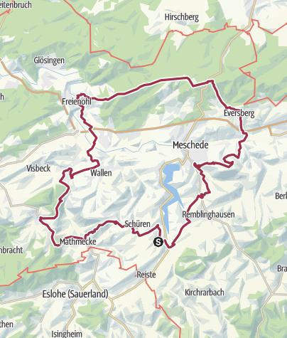 Karte / Mescheder Höhenwanderweg (M)