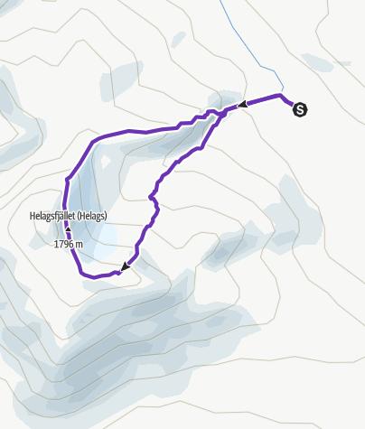 Kartta / Helags fjällstation