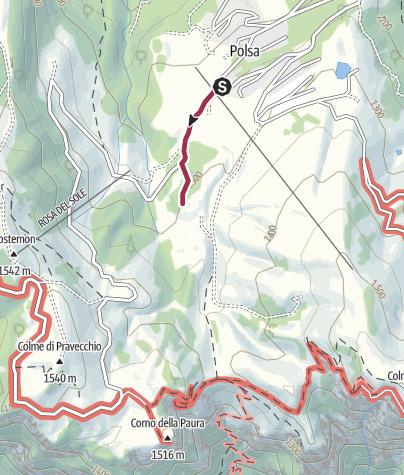 Cartina / Passeggiata attraverso i pascoli di Malga Susine