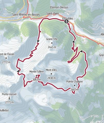 Map / tour mont fallere