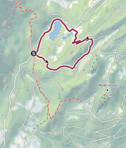 Cartina / Lago di Cei –Prà dall'Albi