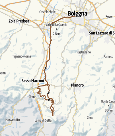 Map / Route to Monte Frate