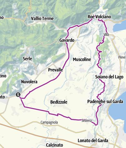 Map / Garda Ovest - Anello Mazzano Salò