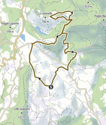 Map / Burraie 2 - La Calvanella