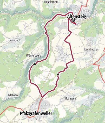 Karte / Reizvolles Zinsbachtal