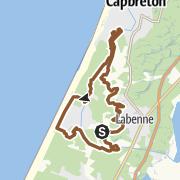 Map / Circuit RandOcéane 25 km du Club VTT de Labenne