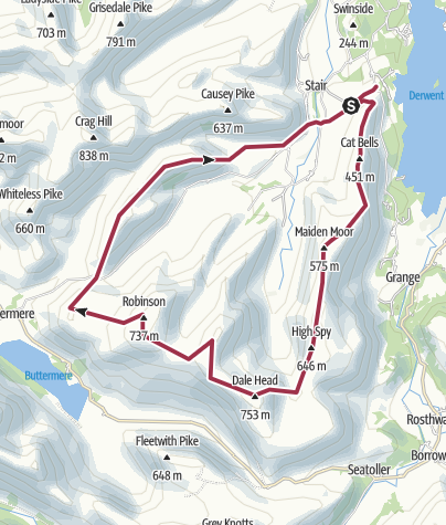 Map / Robinson, Catbells and others