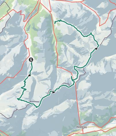 Karte / Von Oberstdorf über den Heilbronner Weg in drei Tagen