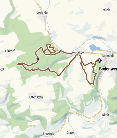 מפה / Kemnade-Schiffberg-Ruhberg-Sievershagen-Ovelgönne